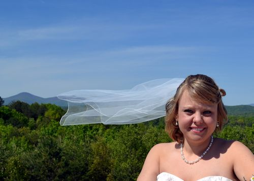 Happy bride at Cavender Castle venue