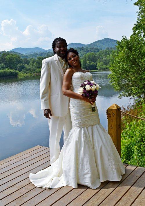 Happy Elopement Destination Wedding at a vacation rental