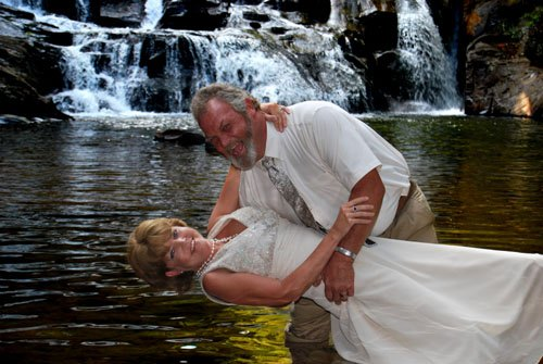 Waterfalls Make Great Alternatives To Getting Married At The Alpine Wedding Chapel