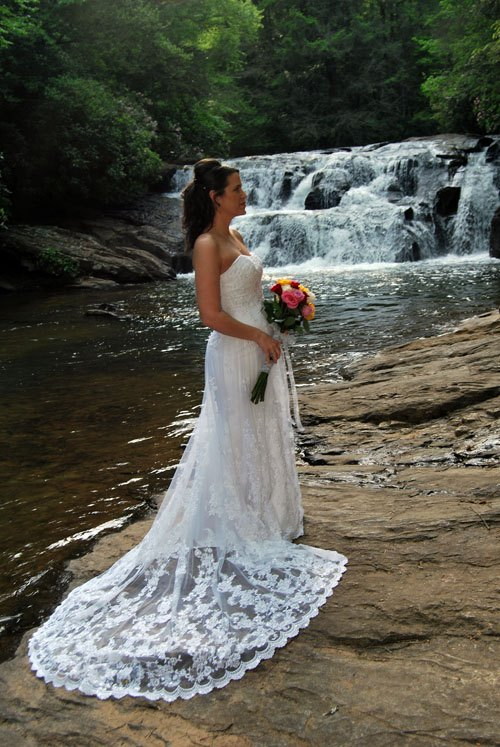 Waterfall Wedding Bride