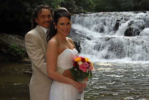 Waterfalls are great locations for Elopements in Georgia